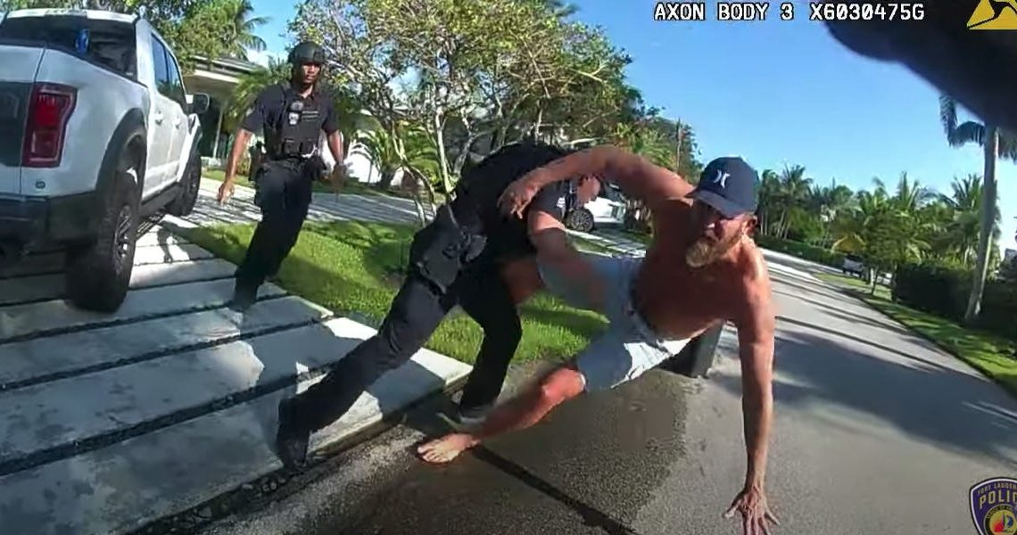 Body camera footage shows Trump's former campaign manager Brad Parscale being tackled by police outside his Florida home