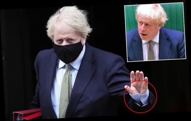 Boris Johnson mocked over picture showing cuff button done up wrong