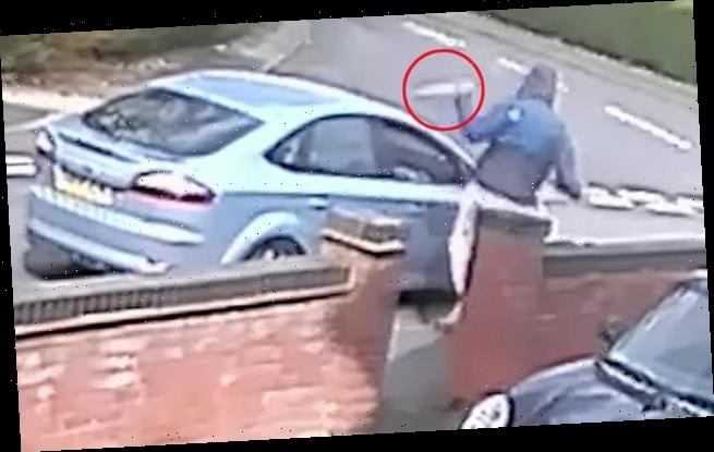 Moment 'drug dealer', 21, viciously stabs car passenger in the chest
