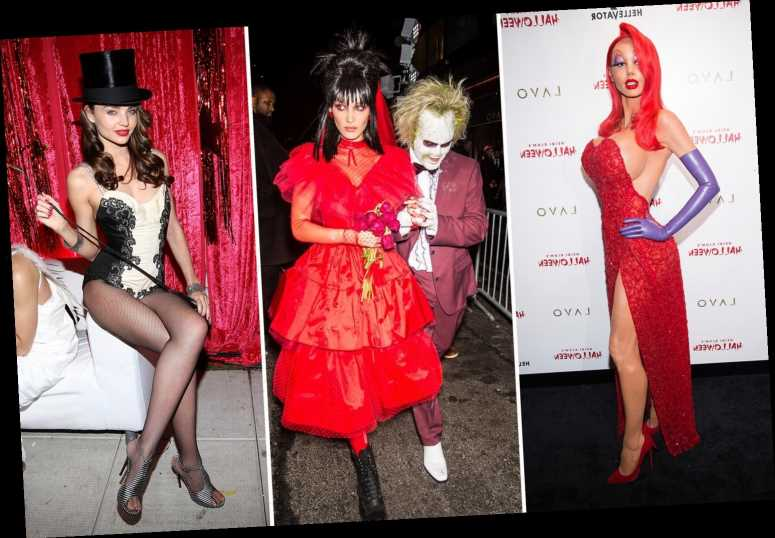 From sexy Jessica Rabbits to hunky Popeyes & bloody ghouls – vote for YOUR favourite celeb Halloween costumes ever