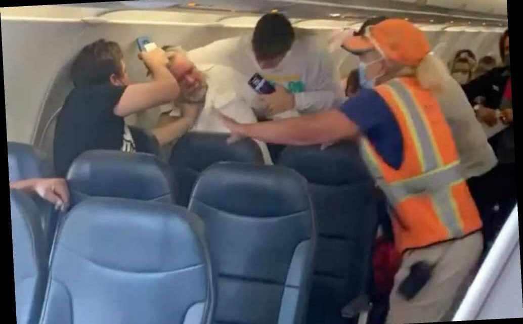 Fight breaks out on flight after man with face shield refuses to wear mask