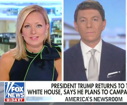 Fox News Host Debunks Trump Campaign Spox, Points Out 'Big Difference' With Biden