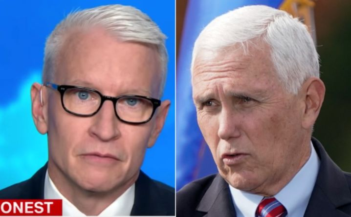 Anderson Cooper Nails The Irony Of Mike Pence's Rally Praise For Medical Workers