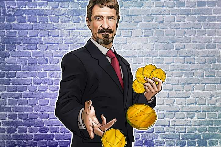 McAfee continues to promote cryptocurrencies from his Spanish jail cell