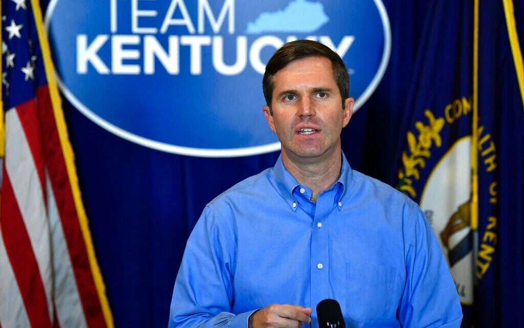 """Kentucky Governor Andy Beshear said in a statement Sunday that he and his family would be quarantining as a precautionary measure, due tobeing """"potentially exposed to a person with COVID-19 late Saturday afternoon."""""""