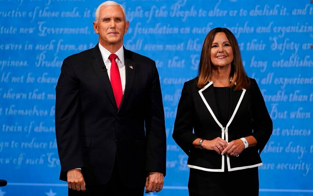 Harris debate guest chastises Karen Pence for not wearing a mask on stage with VP