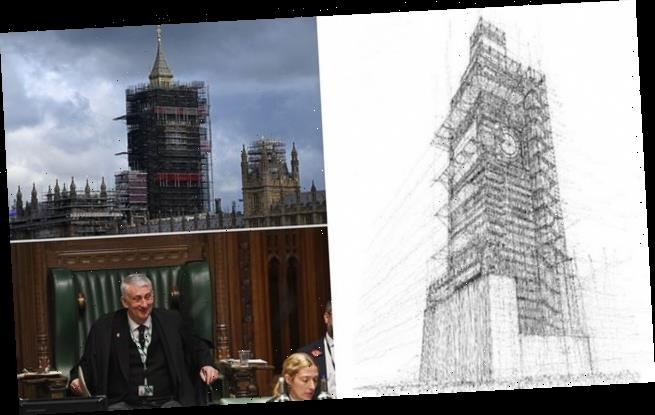 Fury as MPs blow £10,000 on sketch of Big Ben covered in scaffolding