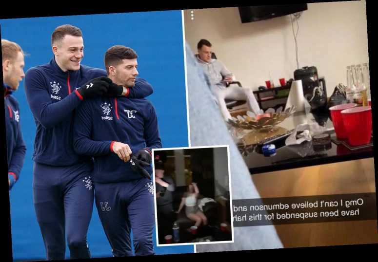 Rangers stars Jones & Edmundson invited glamorous girls to wild house party after contacting them on social media