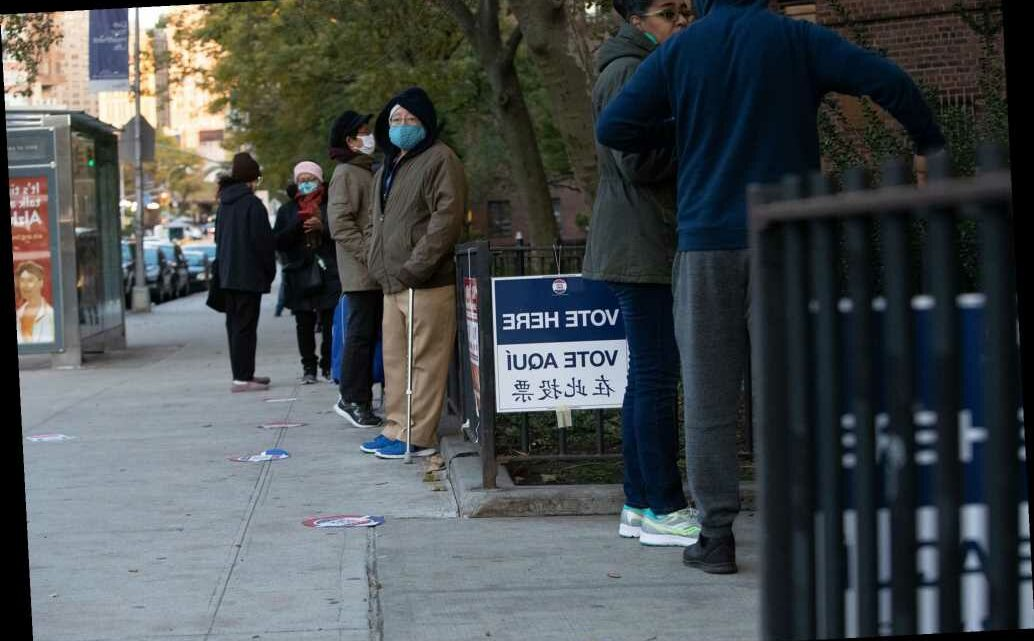 NYC voters come out in droves to the polls on Election Day