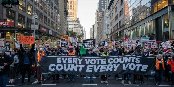 NYPD arrests at least 30 people during protest over delayed vote counts