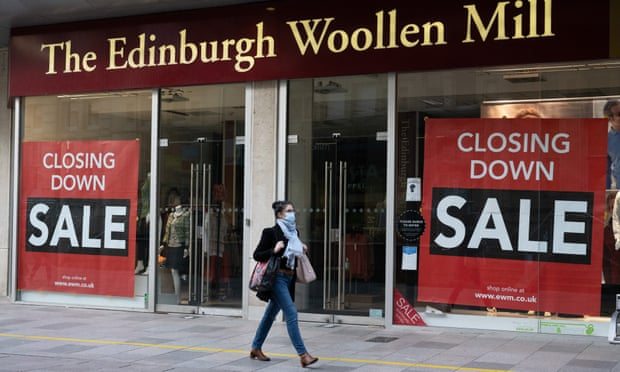 Edinburgh Woollen Mill and Ponden Home enter administration with loss of 860 jobs