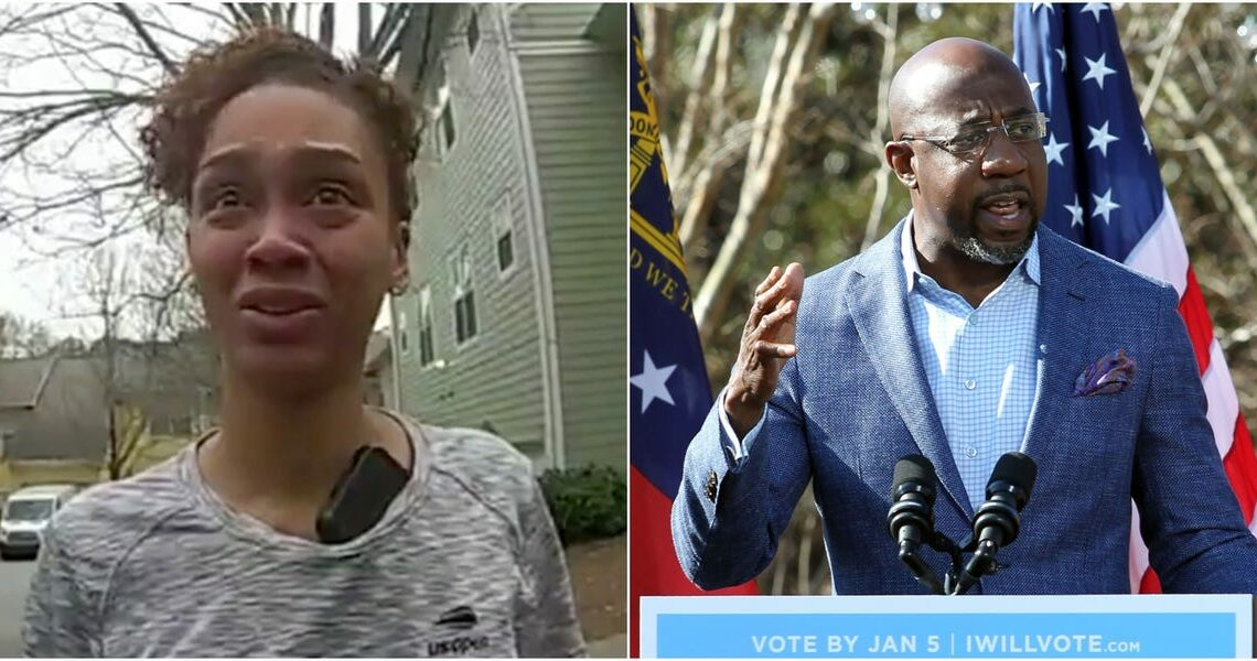 The ex-wife of Raphael Warnock, one of the Democrats running in Georgia's Senate runoffs, accused him of running over her foot during an argument in newly-released footage