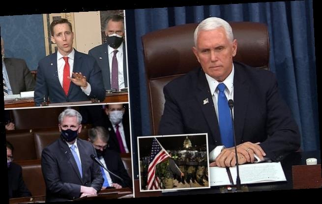Mike Pence re-opens Senate and praises police who defended Congress