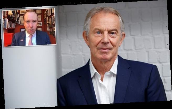 Tony Blair 'advising Matt Hancock and other on vaccines strategy'