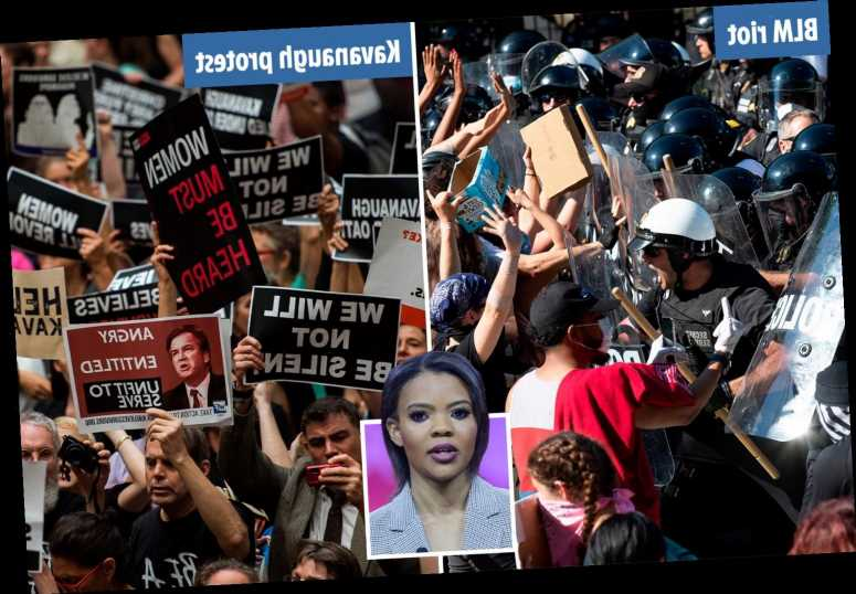 Candace Owens says DC was 'MORE out of control' during BLM riots and Brett Kavanaugh hearings