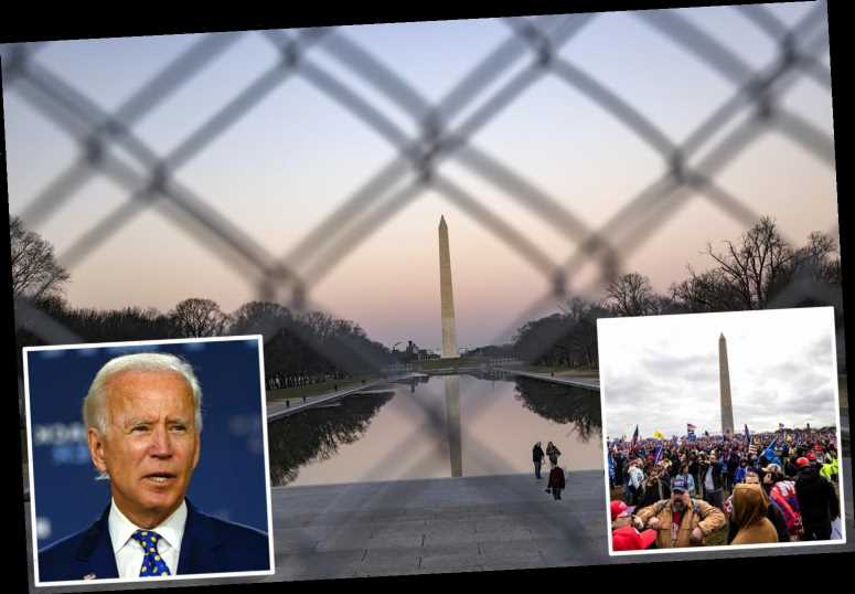 National Mall 'to SHUT DOWN' on Biden's Inauguration Day following warnings of 'mass armed protests'