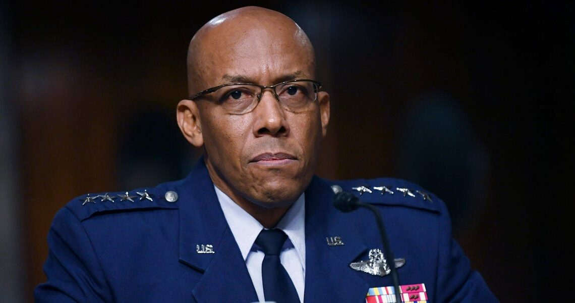 Air Force's top officer says he was compelled to tackle racial injustice, even though his promotion was on the line