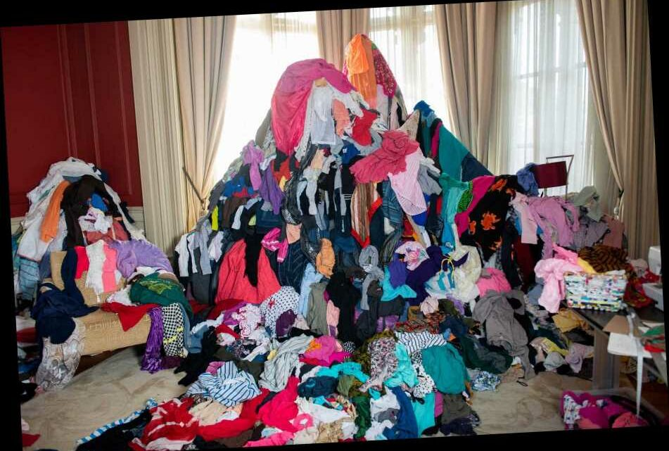 Shocking picture shows huge amount of clothing thrown away every FIVE MINUTES in the UK