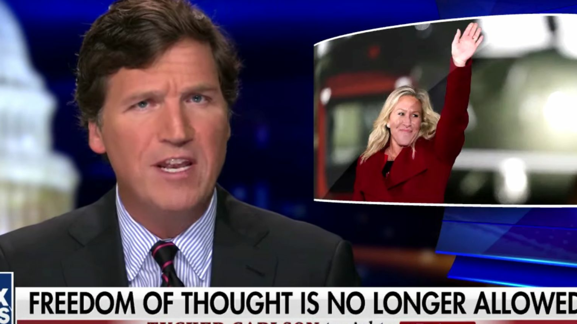 Tucker Carlson Defends Rep. Marjorie Taylor Greene: 'She Just Got There'