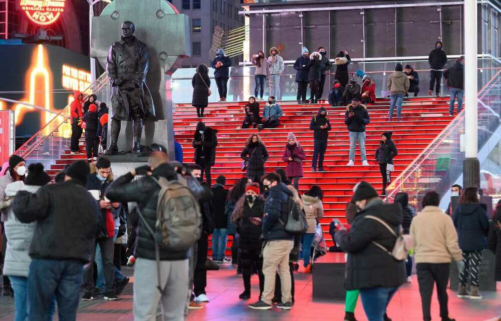 Visitors are slowly returning to Times Square