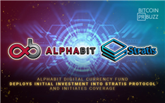 Alphabit Digital Currency Fund Deploys Initial Investment into Stratis Protocol and Initiates Coverage