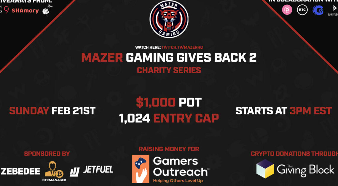 Mazer Gaming Gives Back Tournament Returns To Propel Bitcoin Adoption