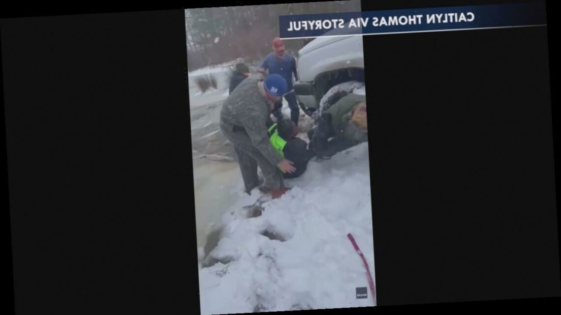 Texas boy rescued from icy pond after being spotted by dog walker