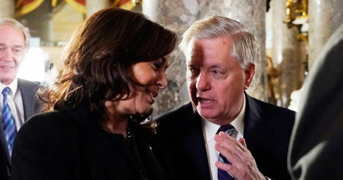 Graham while criticizing Trump's impeachment trial: 'I don't know how Kamala Harris doesn't get impeached if the Republicans take over the House'