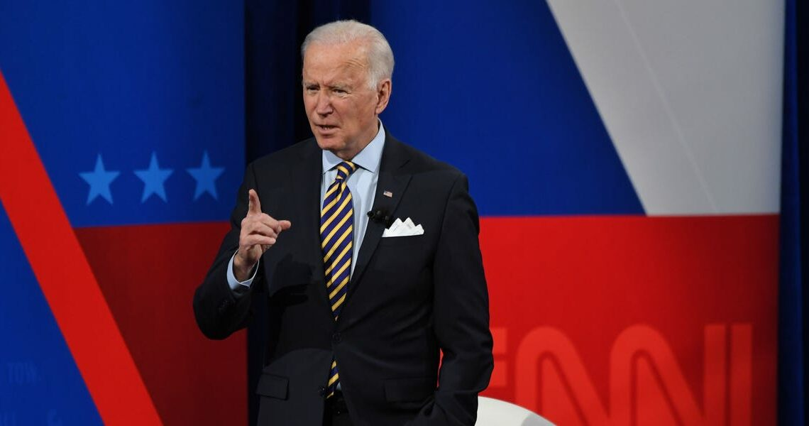 Biden says he's 'tired of talking' about 'former guy' Trump in first town hall as president