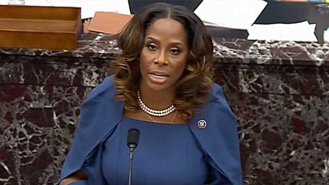 Impeachment manager Stacey Plaskett suggests Trump defense videos homed in on 'people of color'