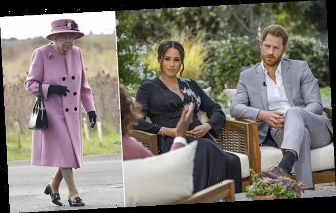 The Queen will 'ignore' Harry and Meghan Oprah interview 'circus'