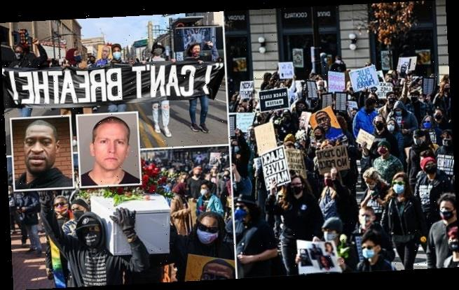 Thousands protest in Minneapolis ahead of Derek Chauvin trial