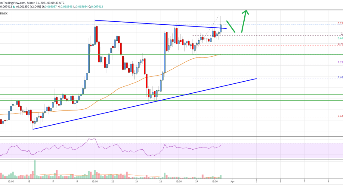 Tron (TRX) Price Analysis: Bulls Aim $0.08 or Higher