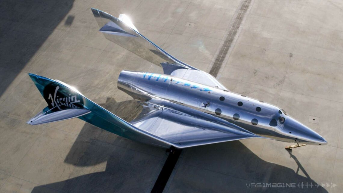 Virgin Galactic unveils 'VSS Imagine,' the first of its next-generation spaceship series