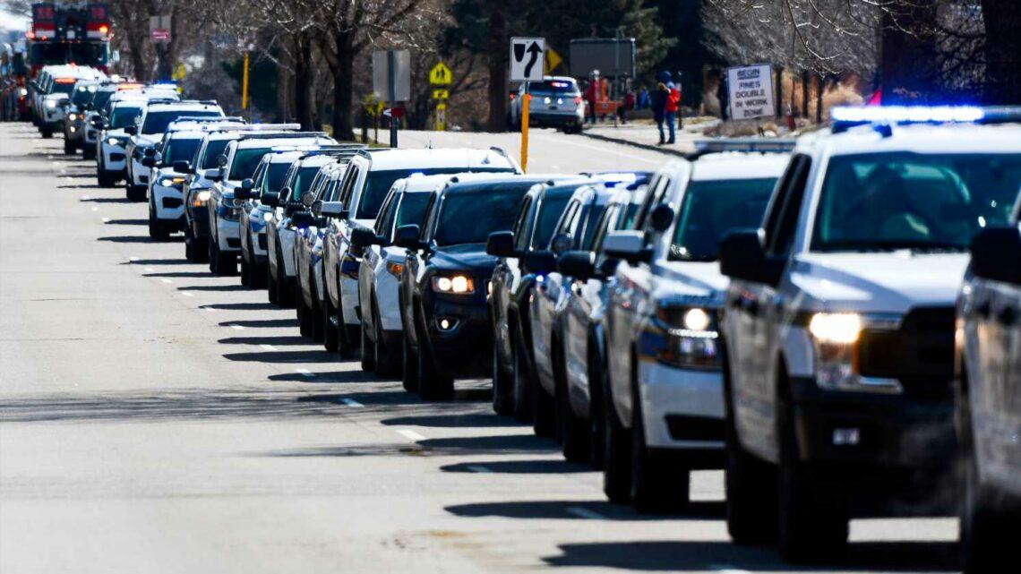 Hundreds honor slain officer credited with preventing more deaths in Boulder shooting