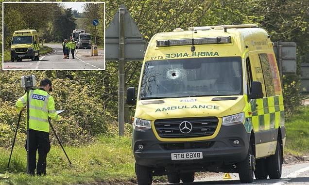 Ambulance medic killed when object pierced his ambulance windscreen