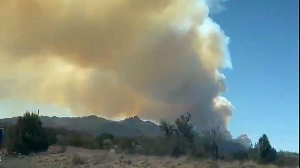 Evacuations ordered as wildfire spreads in Arizona