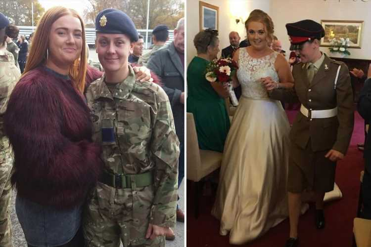 Female soldier, 32, sacked from Army after headbutting and throttling wife after coming home drunk at barracks
