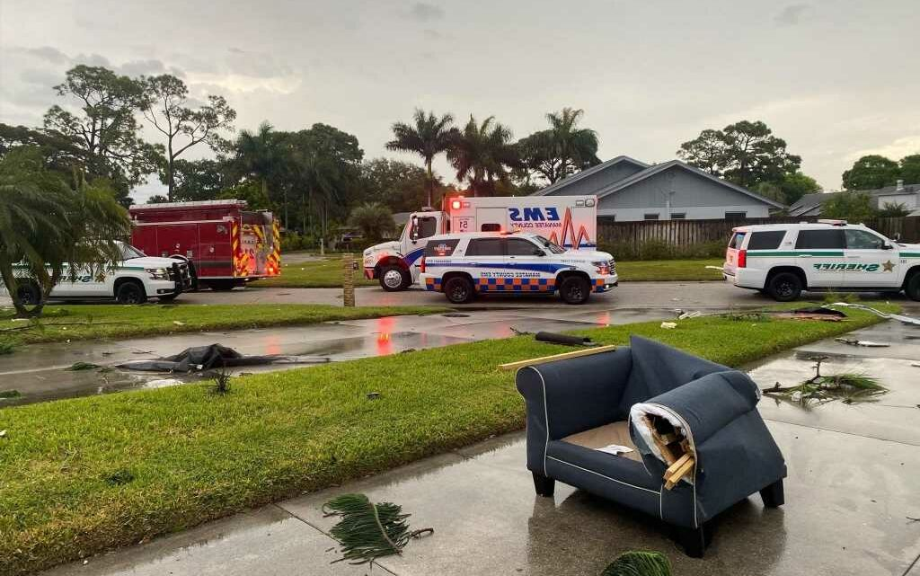 Girl, 17, dies in Florida storm after being electrocuted by downed power line as severe weather threats southern US