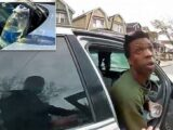 Man throws a chemical on NYPD officer during a routine traffic stop