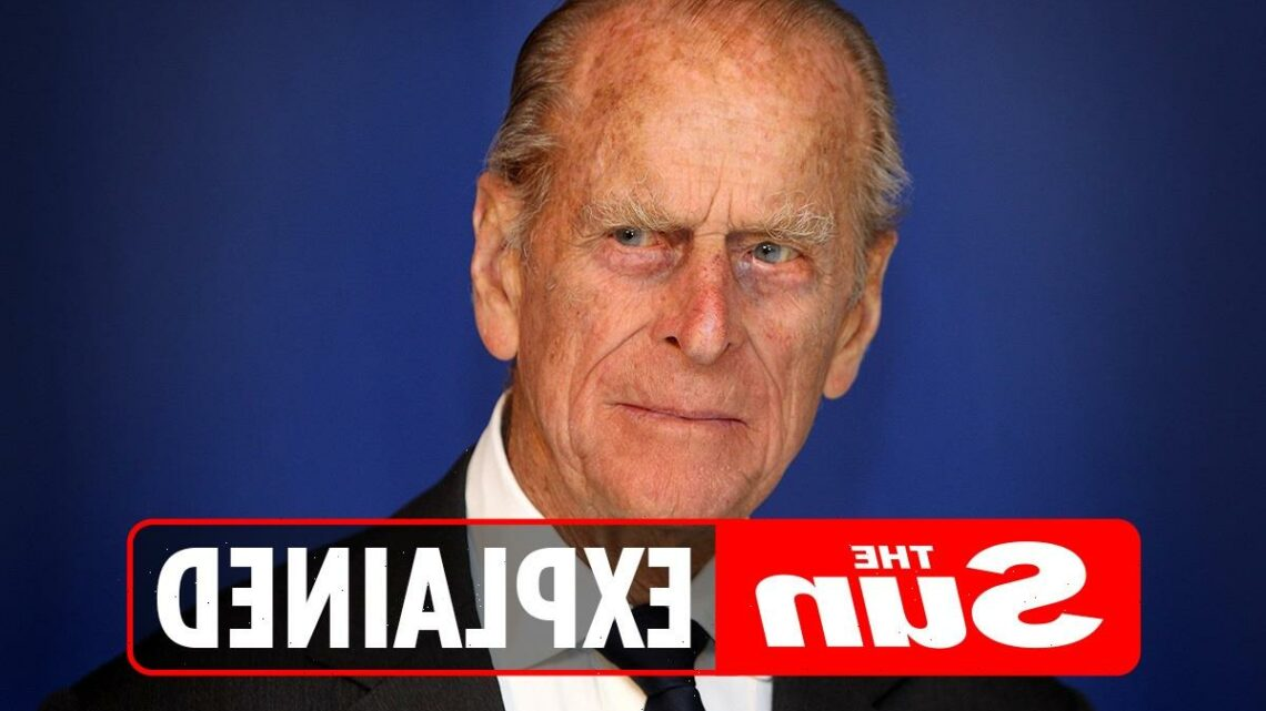 What time is Prince Philip's funeral today?