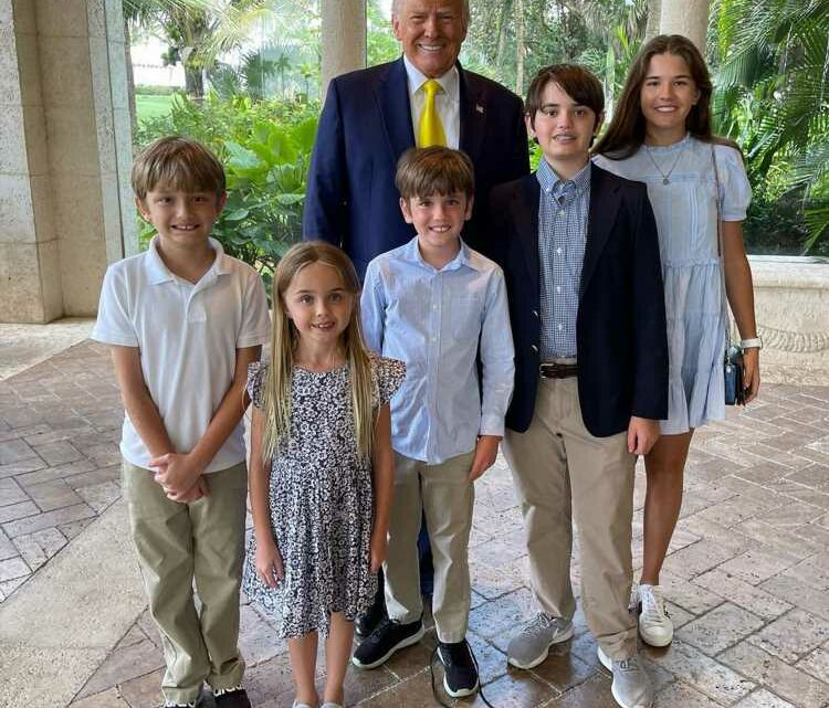 Donald and Melania Trump Gather with Their Family for Easterin Florida