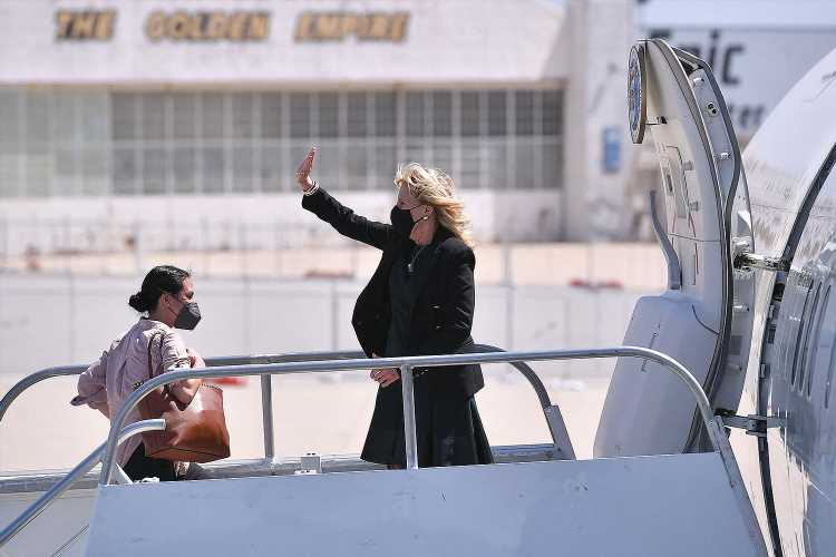 Jill Biden Pranks Her Staff and the Press Disguised as Flight Attendant 'Jasmine' for April Fools' Day