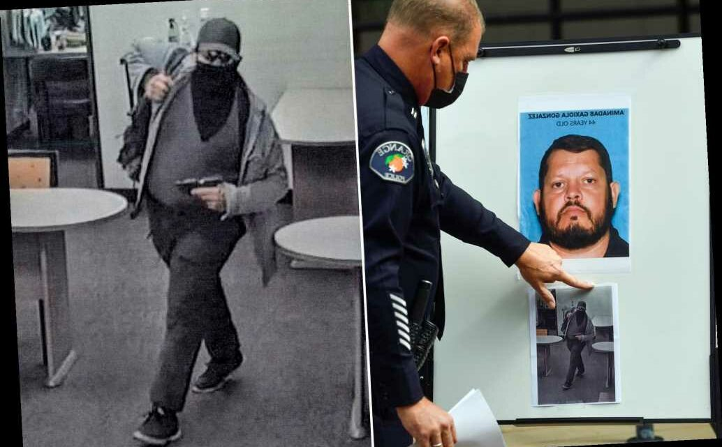 Chilling photo shows California shooting suspect stalking office with gun