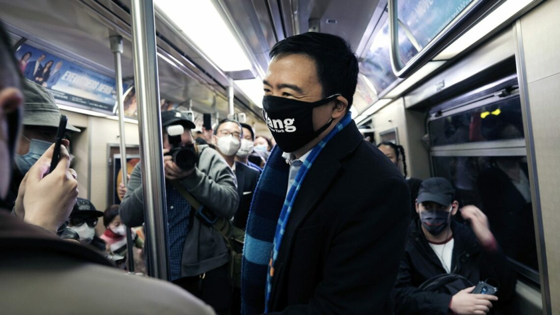 Andrew Yang campaign condemns 'racist' cartoon after he said Times Square is his favorite subway stop