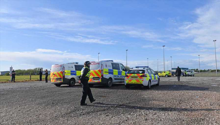 Boy rushed to hospital with serious injuries after being struck by lightning while playing football in Blackpool
