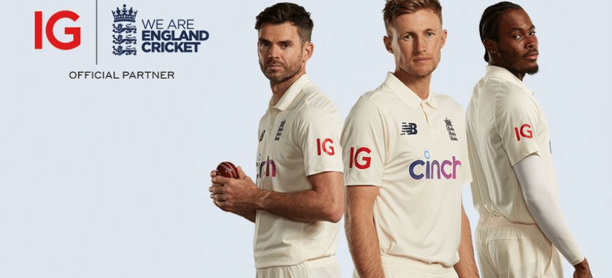 IG Signs Sponsorship Deal with England National Cricket Team
