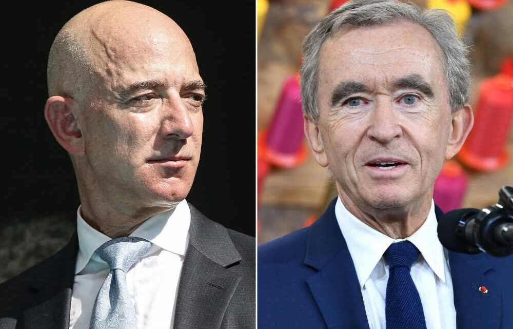 Jeff Bezos battles with LVMH boss for title of world's richest man