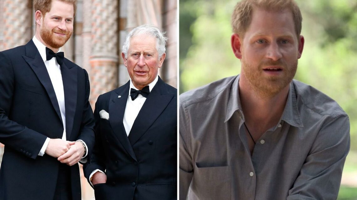 Prince Harry 'hell-bent on blaming everyone else – especially dad Charles' for his problems, claims royal expert