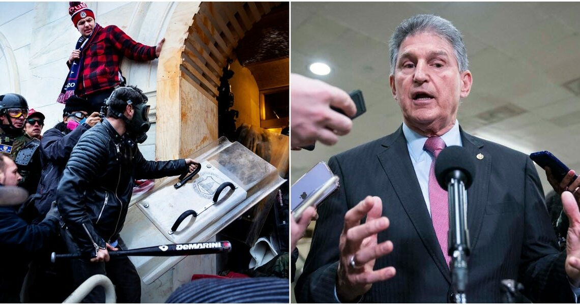 Sen. Joe Manchin said he wanted to 'to stay and fight' during Capitol riots